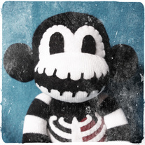 LG Macabre Skeleton Sock Monkey