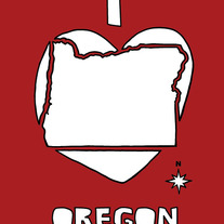 Oregon love, 5x7 print