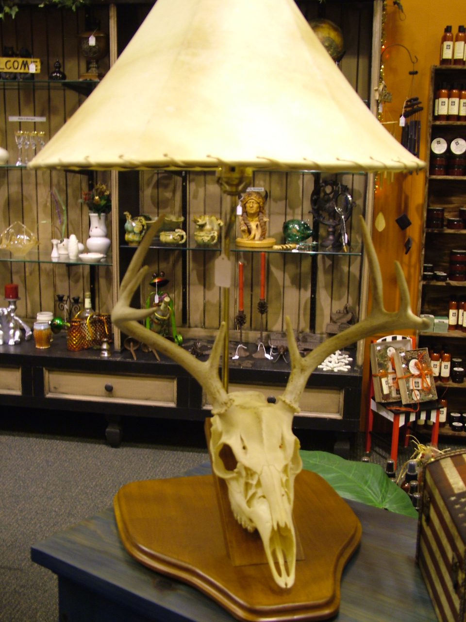 white tail deer lamp swankyz good goods online store powered by storenvy. Black Bedroom Furniture Sets. Home Design Ideas