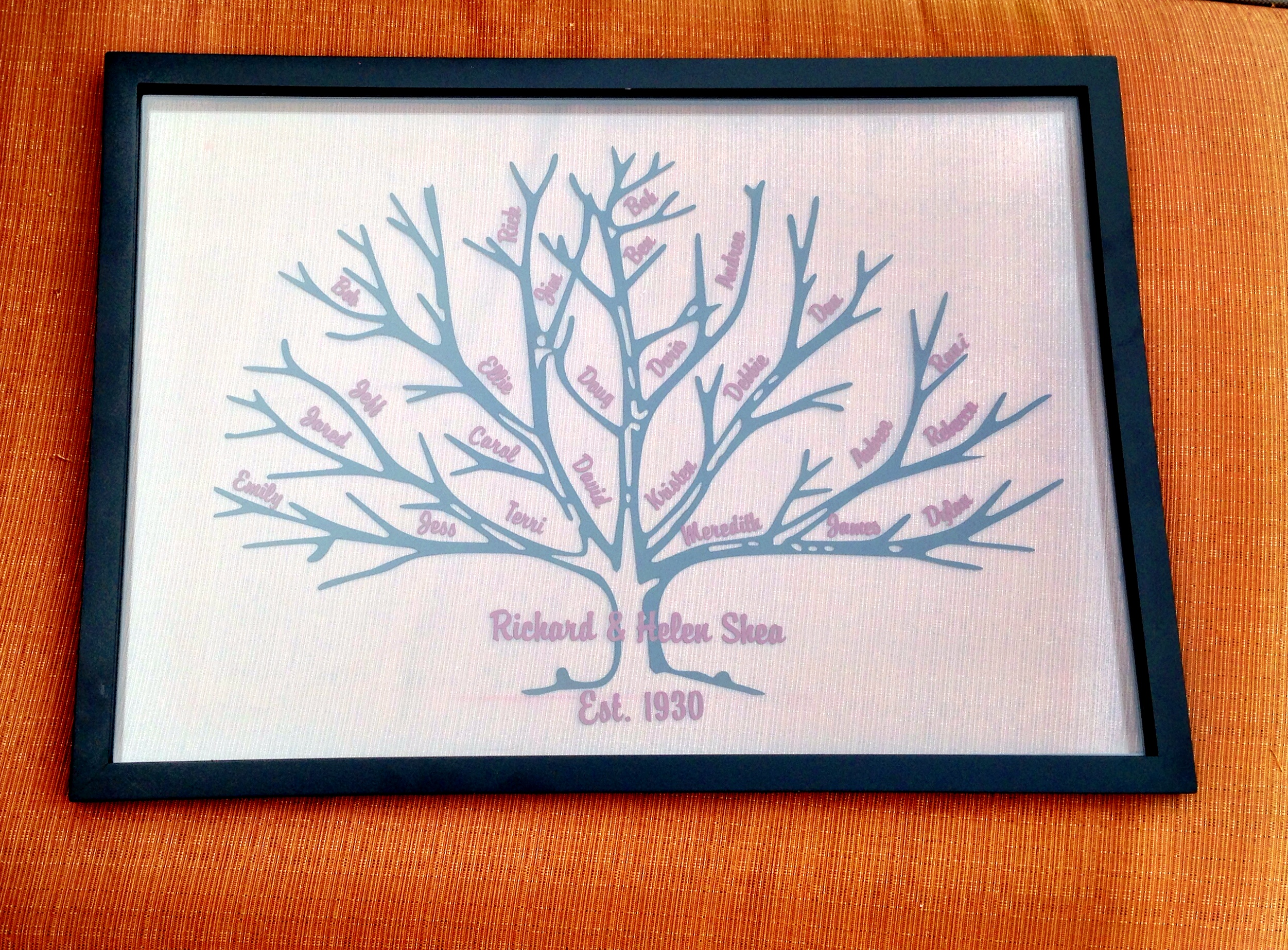 Large family tree abanakee custom gifts online store for Family tree gifts personalized