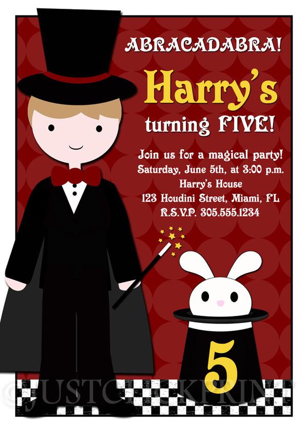 Abracadabra Magic Show Birthday Party Invitation Any Color ...