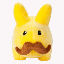 Stache Yellow Plush Labbit 7""