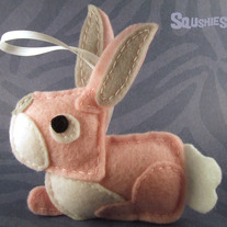 Felt Easter Ornament - Brain the Bunny