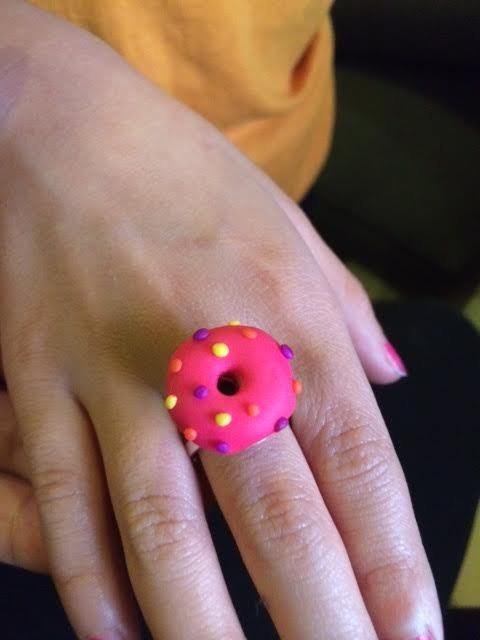 Donut W Sprinkles Clay Charm Ring On Storenvy