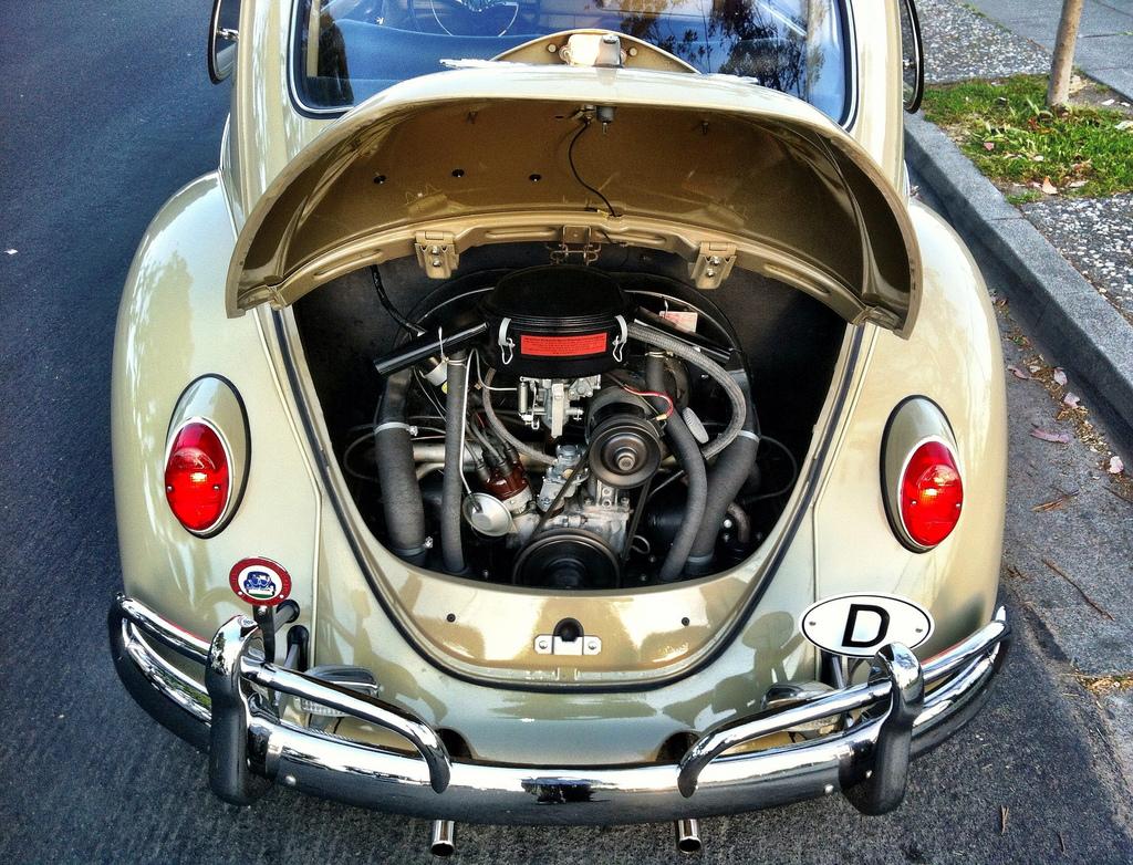 restored german  u201967 beetle oil bath air cleaners