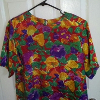 Distinction Bright Colored Blouse sz 12