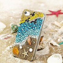 New Bling Crystal Sparkle The Beach iPhone 4/4S Case
