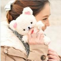 New Cute Plush White Bear iPhone 4/4S Case