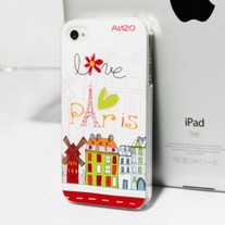 New I Love Paris Relief iPhone 4/4S Case