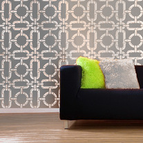 Bamboo Chain Pattern Wall DIY Stencil Home Decor better then vinyl decals and more affordable then Wallpaper