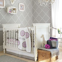 Designer Pattern great for kids and nursery room Wall DIY Stencil Home Decor