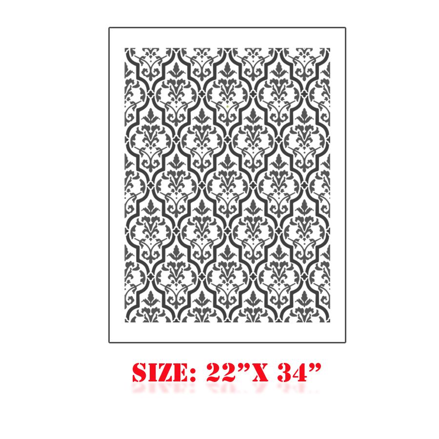 Stencil boss tafra moroccan geometric old world allover - Modern wall stencil designs ...