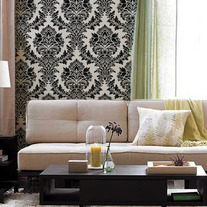 Audrey Victorian Classic Damask Allover Designer Pattern Wall Stencil Decor