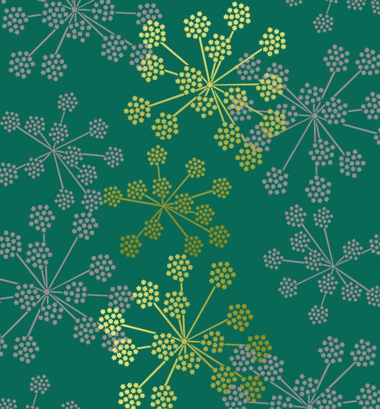 Floral Decorative Designs Floral Decor Wall Stencil