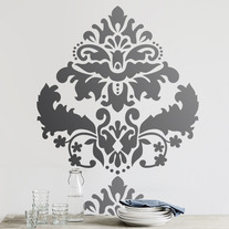 Large Marquise Damask Wall Stencil Home Decor