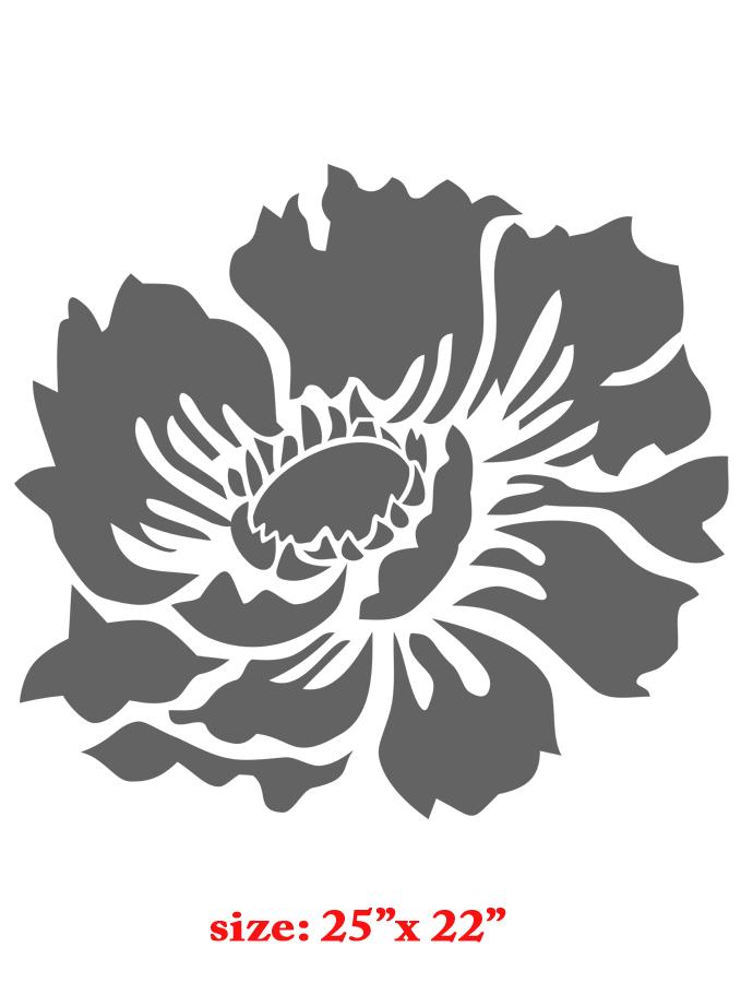 Cool Stencil Designs : Flower pattern stencil