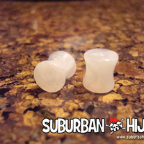 White UV Granite Saddle Plugs