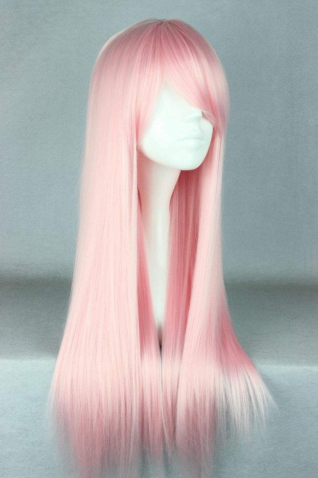 70cm Long Light Pink Beautiful Lolita Cosplay Wig · Mad Bargains ...