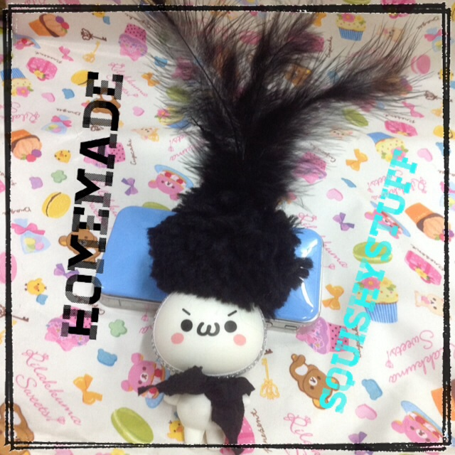 Emotion Squishy Tag : *HOMEMADE COSTUME*ONLY 1* Emotion Squishy with Feather Hat on Storenvy