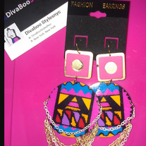 Neon Lites & Chains Earrings