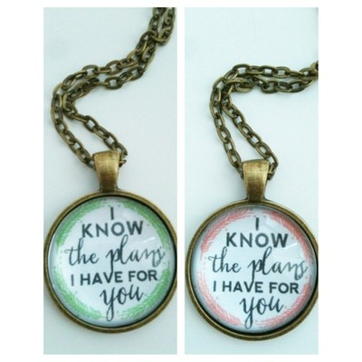Know the Plans - Modern Scripture Faith Necklace - JEREMIAH 29:11