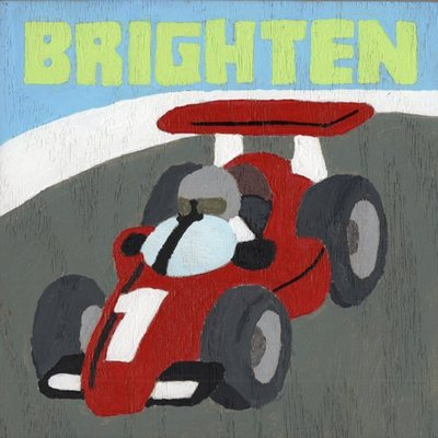 "6"" x 6"" racing car (personalized sign) wall decor"