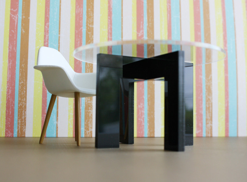Modern Minimalist Dining Kitchen Table In Acrylic W
