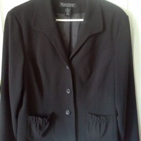 Dialogue Black Blazer Sz 16