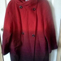 Worthington Red Fades to Black Red Wool Jacket L