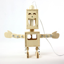 DIY double sided robot lamp