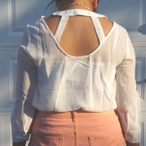 Cut Out Back Blouse