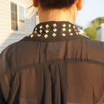 Studded Collar Blouse