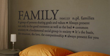 Family Definition Wall Decal Sticker For Housewares