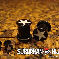 UV Star Single Flare Plug (Black)