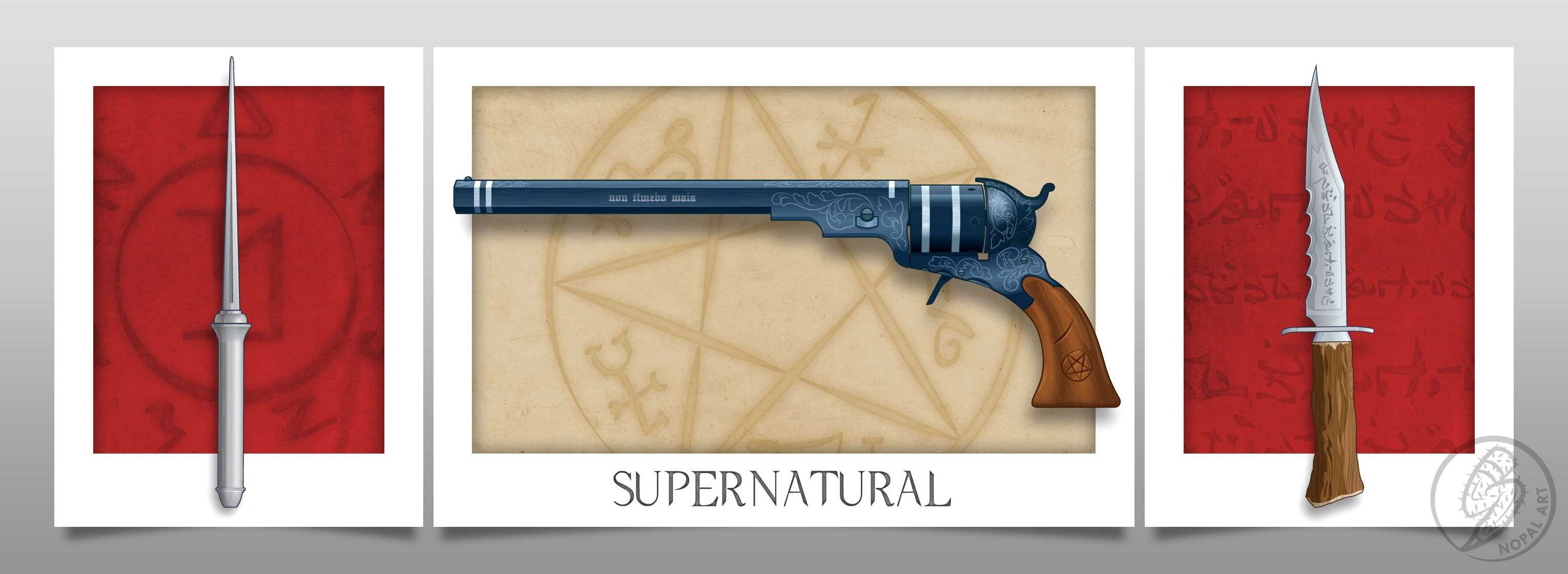 NOPAL Art: Weapons of Supernatural original print