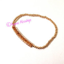 Rose Gold Pave Bar With Rose Gold Filled Beads