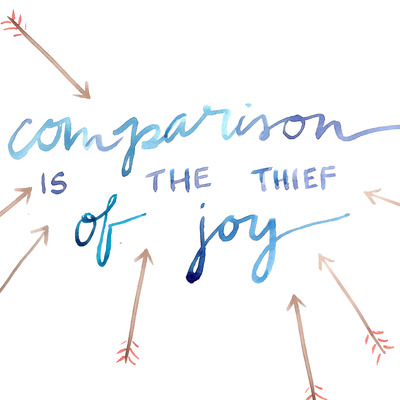 Comparison is the thief of joy 8x10 watercolor art print