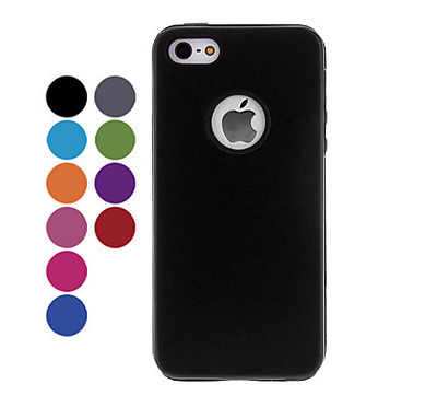 Sleek Hybrid Aluminum and Silicone Hard Case for iPhone 5/5S