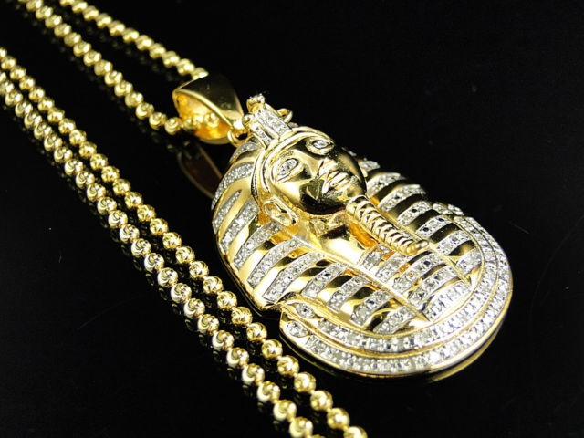 925 silver king tut tutankhamun real diamond pendant chain 925 silver king tut tutankhamun real diamond pendant chain yellow gold finish aloadofball Gallery
