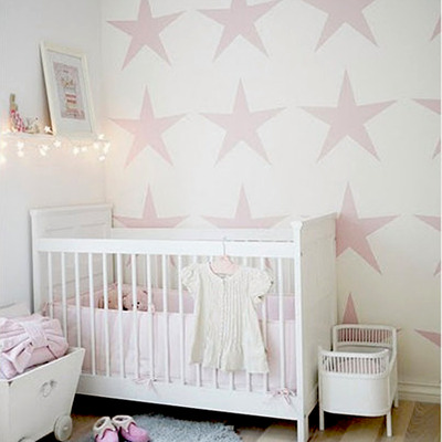 Wall stencil star baby room pattern wall room decor made by omg stencils home improvements color paintings 0212