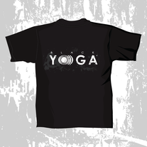 T-Shirt: BLACK YO)))GA Logo w/ Skull medium photo