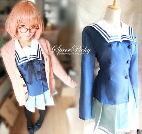 cos kuriyama mirai uniform set top and pleated. Black Bedroom Furniture Sets. Home Design Ideas