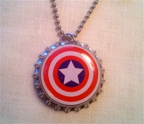 captain america bottle caps