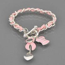 Keep the Faith Pink Ribbon Bracelet