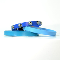 Colorful Cat Collar w. Domed Rivet Accent
