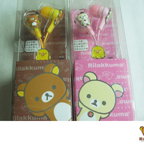 Rilakkuma Earphones (Metallic)