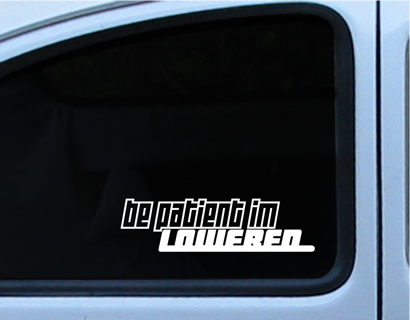 JDM Euro Funny Be Patient Im Lowered Hellaflush Car - Car window decal stickers online