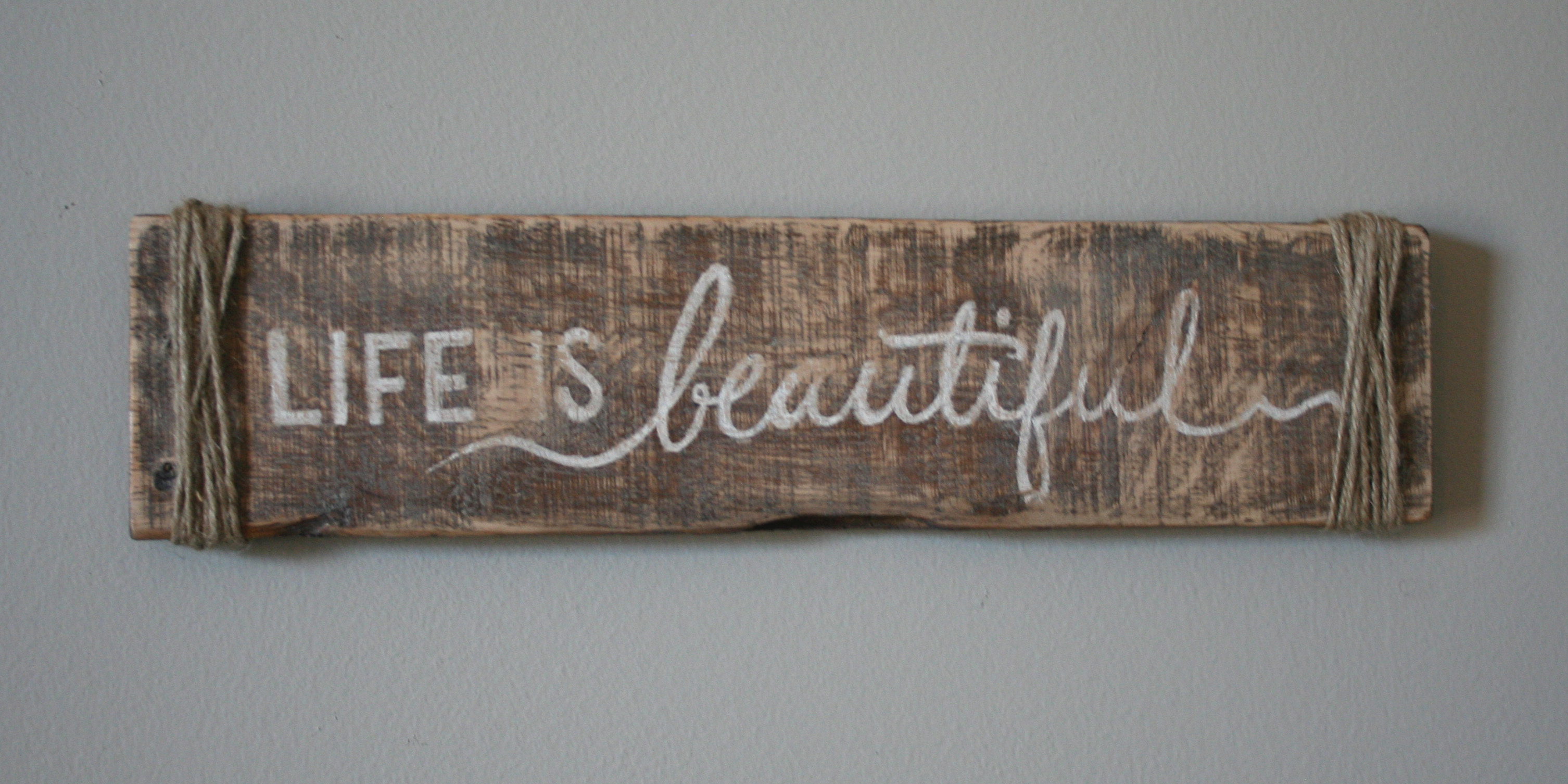 Pallet Signs Part - 27: Life Is Beautiful Hand Painted Pallet Sign