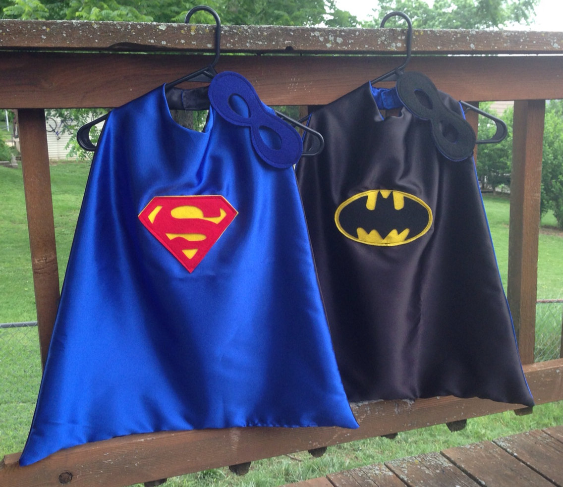 Superhero cape batman superman reversible super hero cape for Cape designs