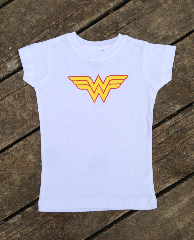 Kids Superhero T Shirt Wonder Woman For Children And